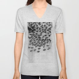 Melting black Unisex V-Neck