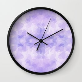 Light purple geometric design Wall Clock