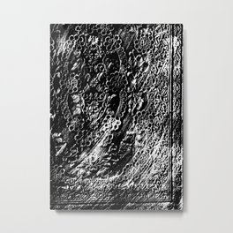 Frottage Lace Metal Print