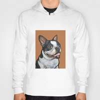 snoopy Hoodies featuring Snoopy the Boston Terrier by Pawblo Picasso