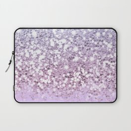 Sparkly Unicorn Lilac Glitter Ombre Laptop Sleeve