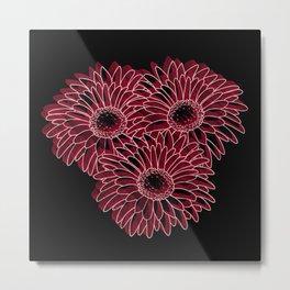 flores remanescente!! Metal Print