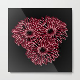 flores remanescente!! Metal Print