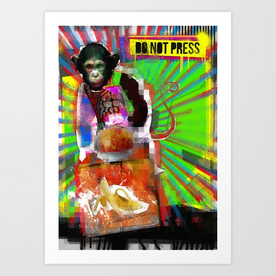 Press the button. Art Print
