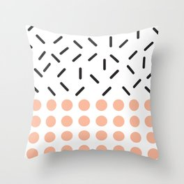 Punto y Linea Throw Pillow
