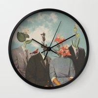 Wall Clocks featuring Secrets by Douglas Hale