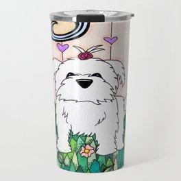 Cameo the Dog on a Hill Travel Mug
