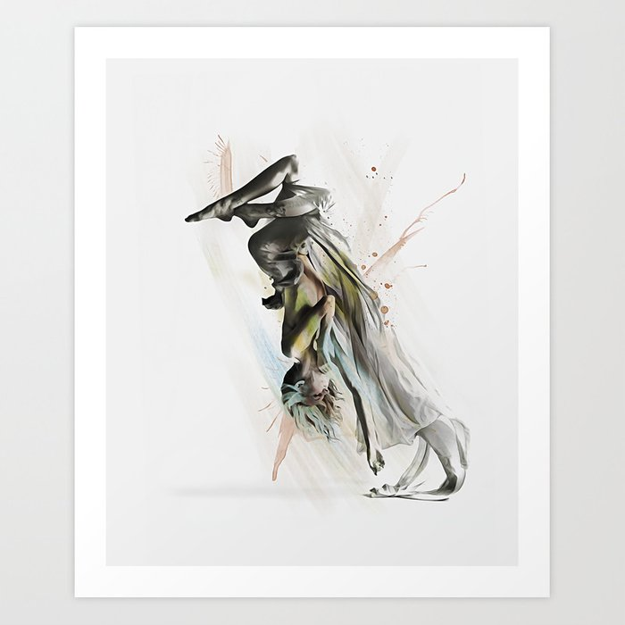 Drift Contemporary Dance Two Art Print