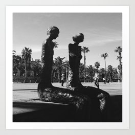 Barcelona sculptures Art Print