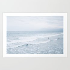 Waves landscape Art Print