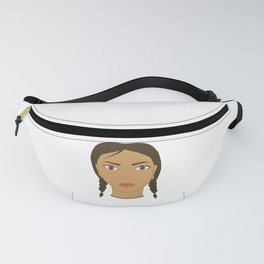 A girl with two braids. Art. Fanny Pack