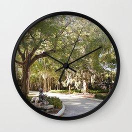 Dreamy Garden Path Wall Clock