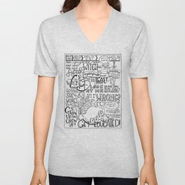 The Wicked Witch of the East Bro Hand Lettered Unisex V-Neck