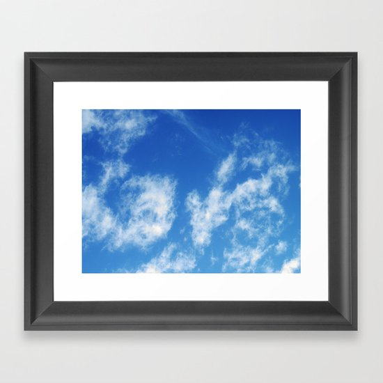 LOVE it's in the clouds Framed Art Print