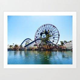 Paradise Pier - Mickey Ferris Wheel (Daytime no.2) Art Print