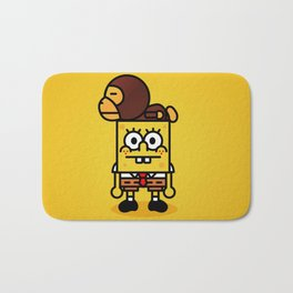 sponge new fun cartoon style sticker iphone cover case wallet bob Bath Mat