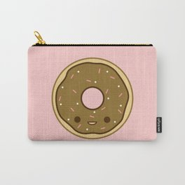 Yummy brown kawaii doughnut Carry-All Pouch
