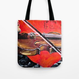 Homage to the Violin Tote Bag