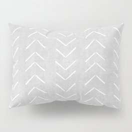 Mudcloth Big Arrows in Grey Pillow Sham