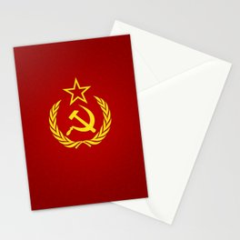 Hammer and Sickle Textured Flag Stationery Cards