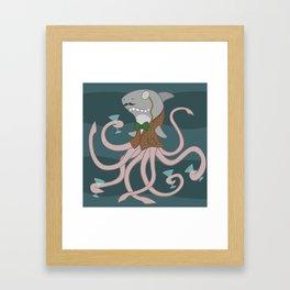 Sharktopus Framed Art Print