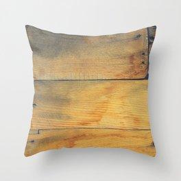 Wood Planks Shipboard Throw Pillow