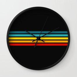Colorful Trendy Lines Black III Wall Clock