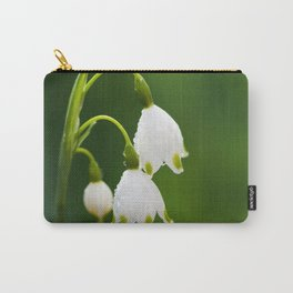 Snowflake Flowers Carry-All Pouch