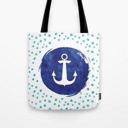 Watercolor Ship's Anchor Tote Bag