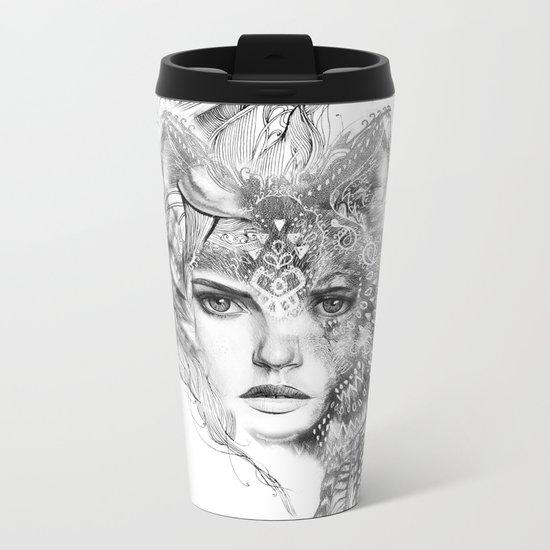Wolf Girl Metal Travel Mug