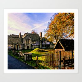 Almonry in Autumn Art Print