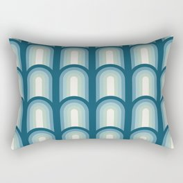 Arches in Blue Rectangular Pillow