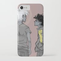 grantaire iPhone & iPod Cases featuring Enjolras and Grantaire by icarusdrunk