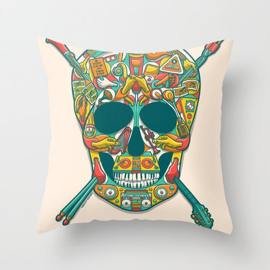Music Isn't Dead Throw Pillow