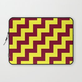 Electric Yellow and Burgundy Red Steps RTL Laptop Sleeve