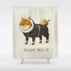 shiba inu-it Shower Curtain