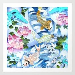 Coy Pond Fantasy Art Print