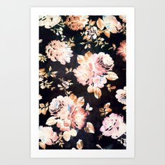 VINTAGE FLOWERS XXXIII - for iphone Art Print
