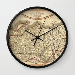Map of Russian Empire 1799 Wall Clock