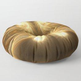Golden Spiral Floor Pillow