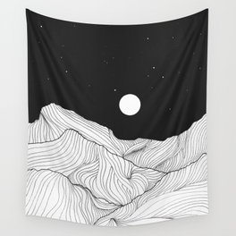 Lines in the mountains II Wall Tapestry