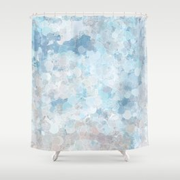Graffiti dream - blue and nude Shower Curtain