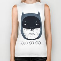school Biker Tanks featuring old school by Louis Roskosch