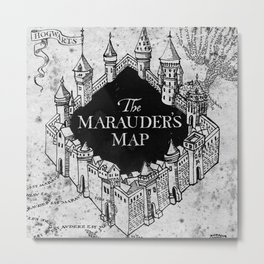 Marauders Map Metal Print