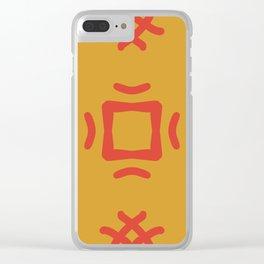 Medallion Mango Mojito & Fiesta Red Clear iPhone Case