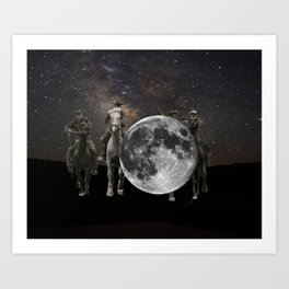 hang the moon Art Print