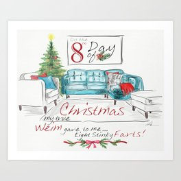 EIGHTH DAY OF CHRISTMAS WEIMS Art Print