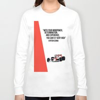 senna Long Sleeve T-shirts featuring Senna Inspriation by MDBDESIGN.