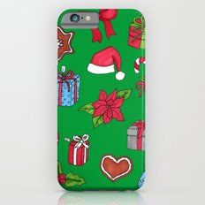 Christmas pattern (#1 green) Slim Case iPhone 6s