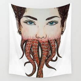 Octoface Wall Tapestry